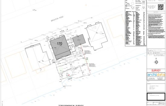 The final topographical land survey shows the property and surrounding area in its entirety.