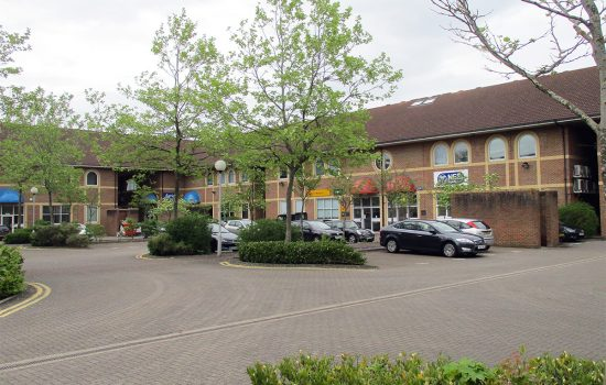 The car park at Alton House, Aylesbury