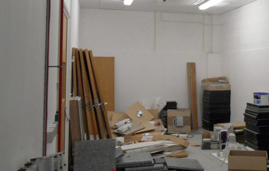 Many of the units were in use, either for storage or with active business.