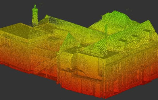3D laser scan: birds eye view of the entire building