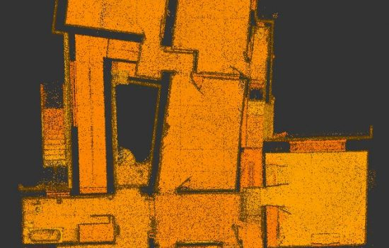 3D laser scan: floor plan