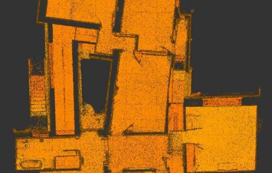 3D laser scan: floor plan