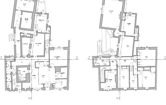 CAD floor plans: information taken from 3D laser scan of interior