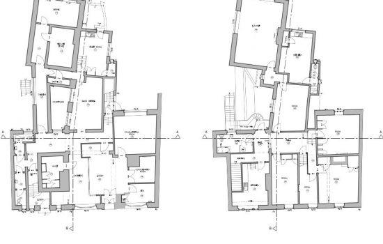 CAD floor plans: information taken from 3D laser scan of interior