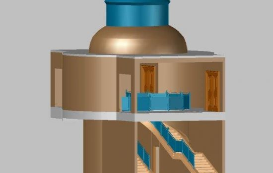 3D CAD model from 3D laser scan in colour