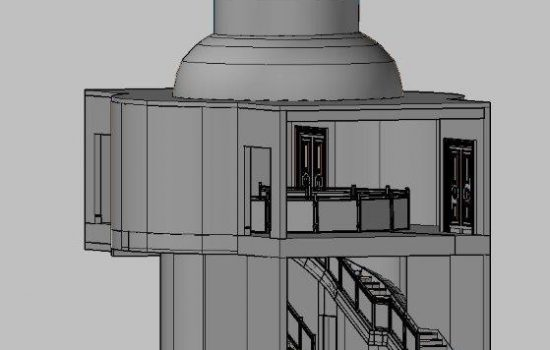 3D CAD model from 3D laser scan, grey scale