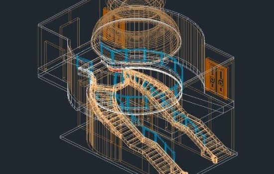 3D CAD model from 3D laser scan, wireframe
