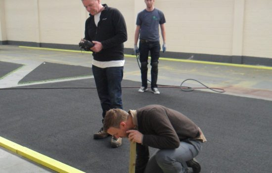 Setting out shapes for Olympic Opening Ceremony with a Trimble S3 theodolite