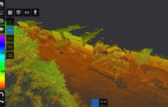 The 3D laser scan provided an additional layer of data that we could combine with the topographical data.