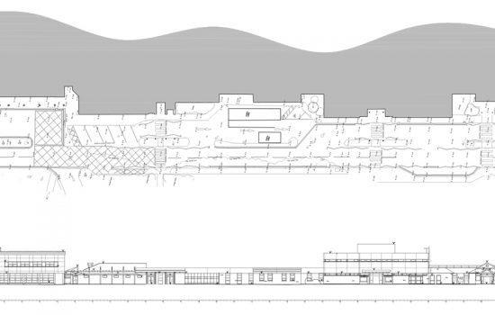 The final elevation and topographical survey drawing.