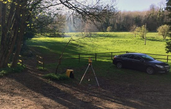 Site detail and levels were gathered using our Trimble S3 robotic total station theodolite.